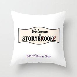 OUAT |Welcome to Storybrooke sign Throw Pillow