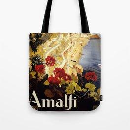 Vintage Italian 1930s Travel Poster- Amalfi Coast Tote Bag