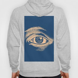 Retro Vintage Blue Eye Pattern Hoody