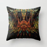 moth Throw Pillows featuring moth by AmeliaPeelArt