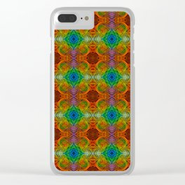 Tryptile 34d (Repeating 2) Clear iPhone Case
