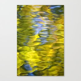 Harvest Gold Mosaic Abstract Art Canvas Print