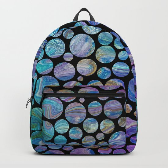 Marble Effect Dots 2 Backpack