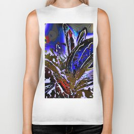 Vivid Foliage in blue Biker Tank