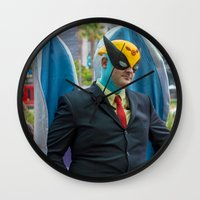 birdman Wall Clocks featuring Harvey Birdman on the scene in San Diego ... by Hoboxia