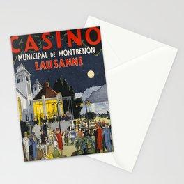 Vintage lausanne casino municipal de Stationery Cards