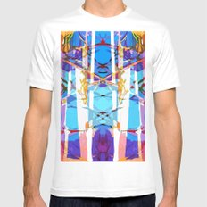Colored Window White MEDIUM Mens Fitted Tee