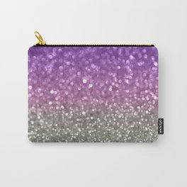 Lilac and Gray Carry-All Pouch