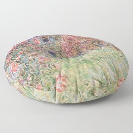 Monet, The House Among The Roses, 1917-1919 Floor Pillow
