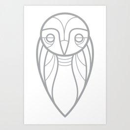 owl tshirt Art Print