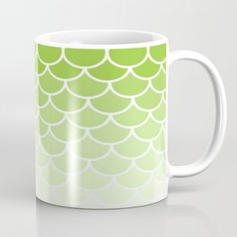 Ombre Fish Scale In Lime Coffee Mug