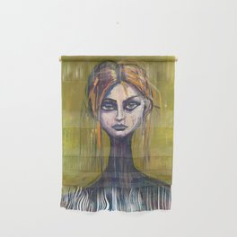 WOMAN ON GREEN Wall Hanging