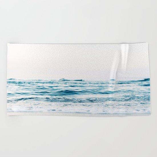 Sea water blue 8 Beach Towel