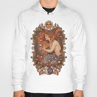 cosmic Hoodies featuring COSMIC LOVER color version by Medusa Dollmaker