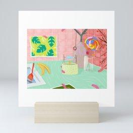 Caterpillar Kitchen Mini Art Print