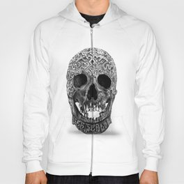 CARVED TIBETAN SKULL. IMAGE IS ENTIRELY MADE OF DOTS. Hoody