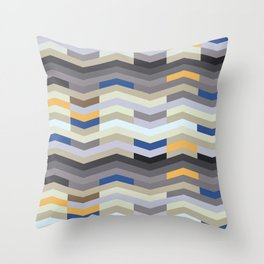 Modern Chevron - Peek O' Blue Throw Pillow
