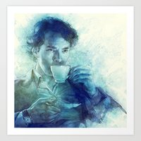 tea Art Prints featuring Tea by Anna Dittmann