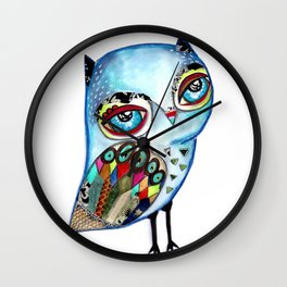 Owl - keep calm and be wise! Wall Clock