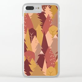 warm autumn woods Clear iPhone Case