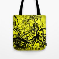 inner demons Tote Bags featuring Demons  by Eve Penman