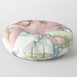 Ficus Lyrata Lady, Figurative Art Floor Pillow