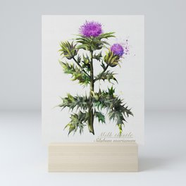 Milk thistle magic herbs  Mini Art Print