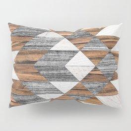 Urban Tribal Pattern No.12 - Aztec - Wood Pillow Sham