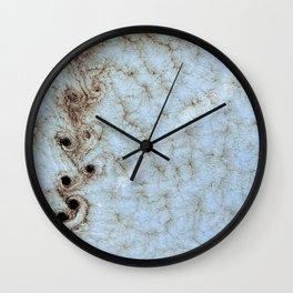 Karman Vortices above Alexander Selkirk Island Wall Clock