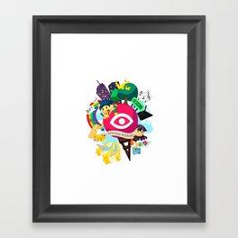 Designn Illustrated Framed Art Print