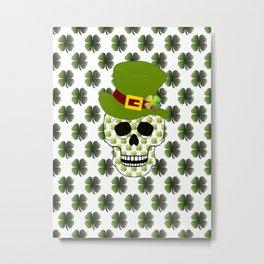 St Paddys Skull Metal Print
