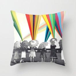 Modern women Throw Pillow