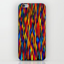 primary verticals on black iPhone Skin