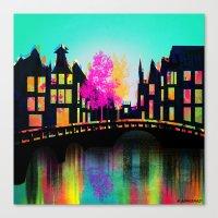 amsterdam Canvas Prints featuring AMSTERDAM by mark ashkenazi