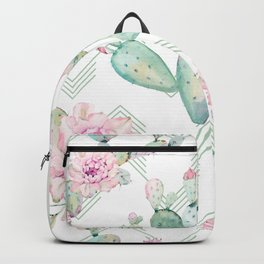 Cactus Rose Deconstructed Chevron Backpack
