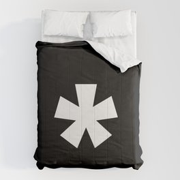 Asterisk (White & Black) Comforters