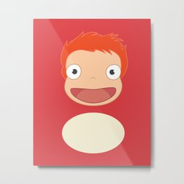 Ponyo on the S6 Metal Print