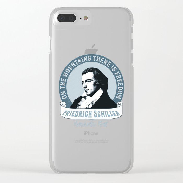 Romantic Poet Mountain Freedom Clear iPhone Case