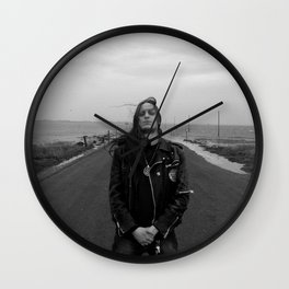 Fenriz Holy Island 2 Wall Clock