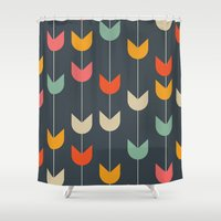 tulips Shower Curtains featuring Tulips by Tracie Andrews