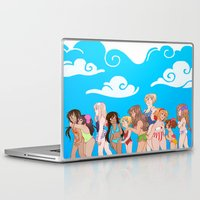 hetalia Laptop & iPad Skins featuring Hetalia Girls by kitkatkatee