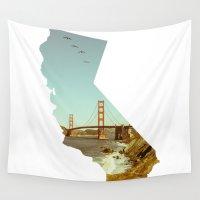 california Wall Tapestries featuring California by Gabriel Sul