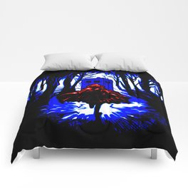 Shadow Light Of Tardis Comforters