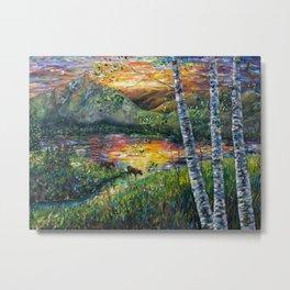 Sleeping Meadow  - Colorado Moose Crossing  Metal Print