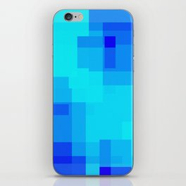 Blue Squares iPhone Skin