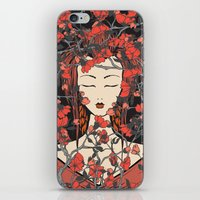 sleeping beauty iPhone & iPod Skins featuring Sleeping Beauty  by Paula Belle Flores