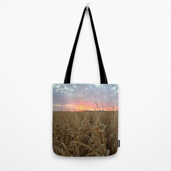 Corn Maze Sunset Tote Bag