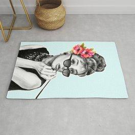 Audrey Hepburn With Flowers - 7 Rug