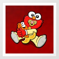 elmo Art Prints featuring Baby Elmo & Dorothy by BinaryGod.com