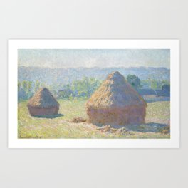 Haystacks, end of Summer by Claude Monet Art Print